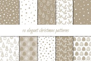 Elegant Christmas patterns
