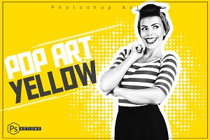 Pop Art Yellow Action