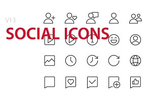 60  Social Icons UI icons