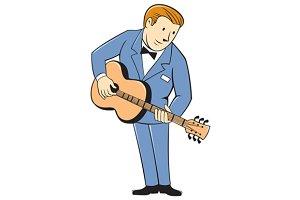 Musician Guitarist Standing Guitar C