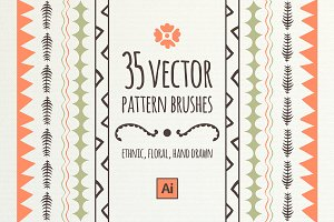 Brushes and patterns | ethnic&floral