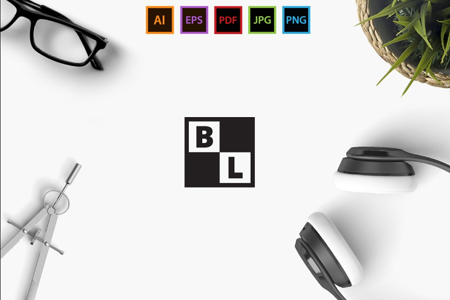 BL  in Logo Templates - product preview 8