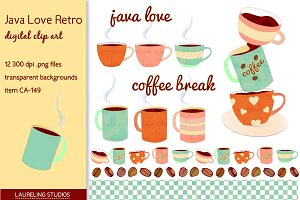 Java Love clip art (retro set)
