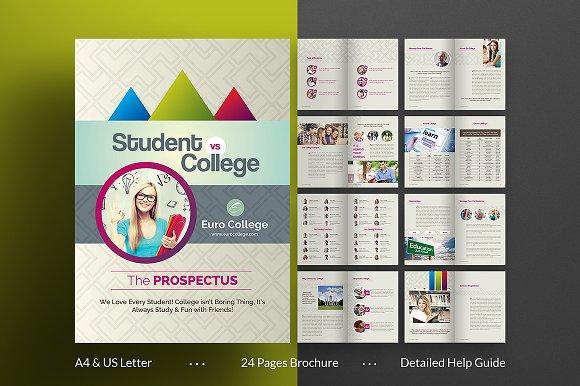 CollegeUniversity Brochure Brochure Templates Creative Market - Brochure template design