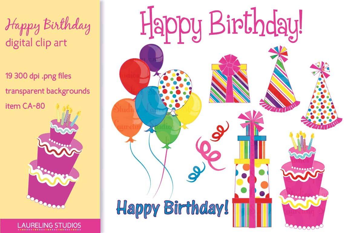 Happy Birthday clip art ~ Illustrations ~ Creative Market