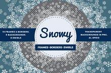 Transparent snowflakes bundle