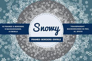 Transparent snowflakes bundle