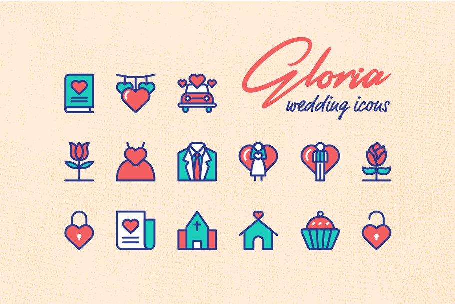 Gloria Wedding Icons