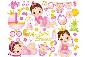 Vector Baby Girls Set