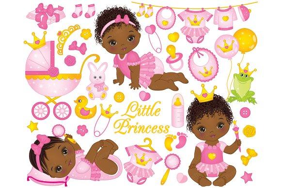 Vector Little Princesses Clipart