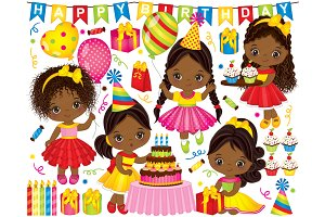Vector African American Girls