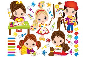 Vector Little Artists