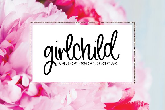 GirlChild in Script Fonts