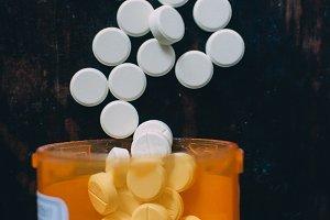 Pills in a pill bottle