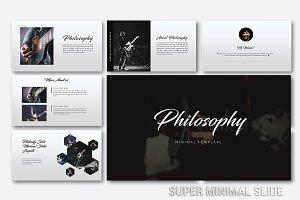 Philosophy Super Minimal Powerpoint