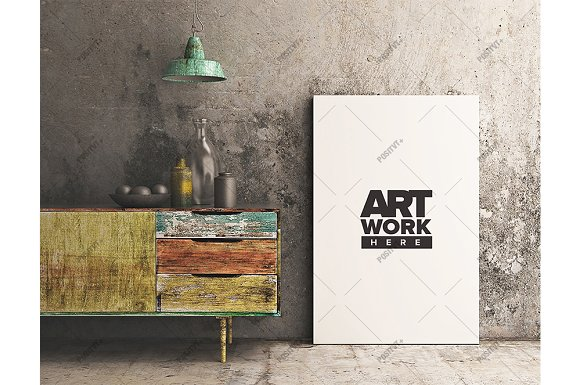 Download Canvas Mockup Reclaimed Cabinet