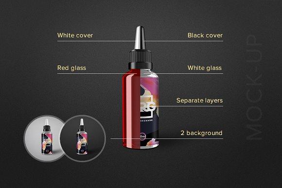 E-liquid Bottle Mockup Vape-Graphicriver中文最全的素材分享平台