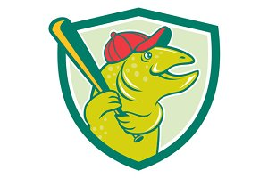 Trout Fish Baseball Batting Shield C