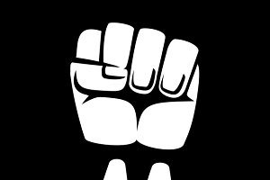 Raised fist sign
