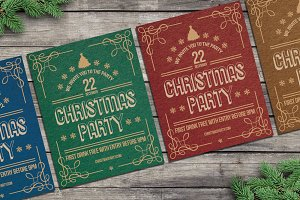 Christmas Retro Party Rustic
