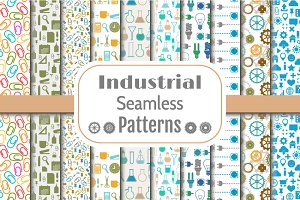 Set of Industrial Seamless Patterns