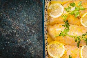 Lemon Chicken , close up
