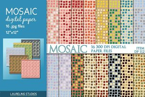 Mosaic digital paper pack