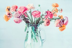 Bunch of lovely pastel flowers
