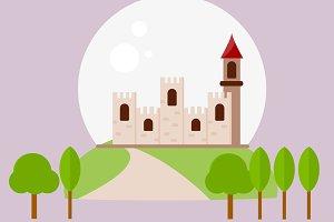 Castle Simple Vector