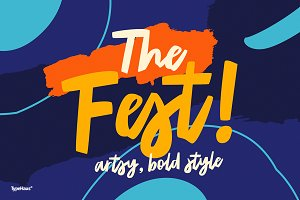 The Fest - Bold Artsy Fonts 50% Off