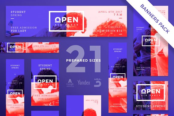 Banners Pack | Open Party