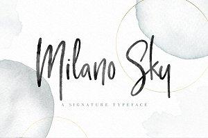 Milano Sky handwritten Script font