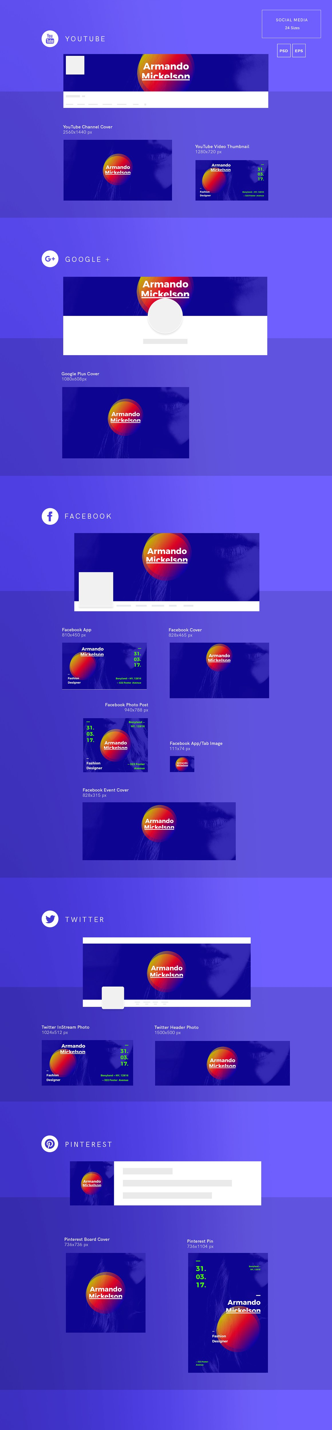 Social Media Pack | Fashion Designer