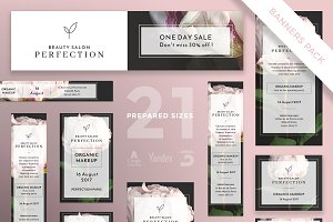 Banners Pack | Perfection Salon