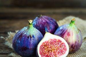 Healthy mediterranean fig fruit