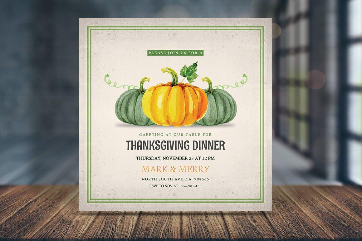 Thanksgiving Dinner Invitations Card Invitation