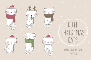 Christmas cats cards