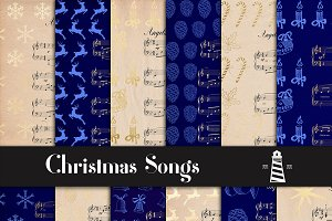 Christmas Songs Digital Paper