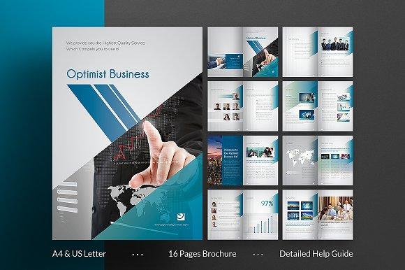 Optimist Business Brochure Brochure Templates Creative Market - Business brochures templates