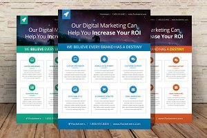 marketing flyer template flyer templates creative market