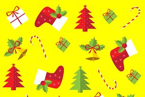 Merry Christmas icons pattern