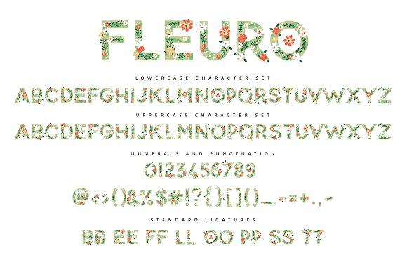 NEW! FLEURO Colour Font :)
