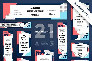 Banners Pack | Office Wear