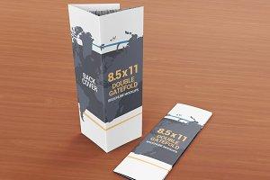 8.5x11 Gatefold Brochure Mockups
