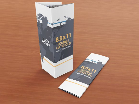 Download 8 5x11 Gatefold Brochure Mockups - All Free Mockup