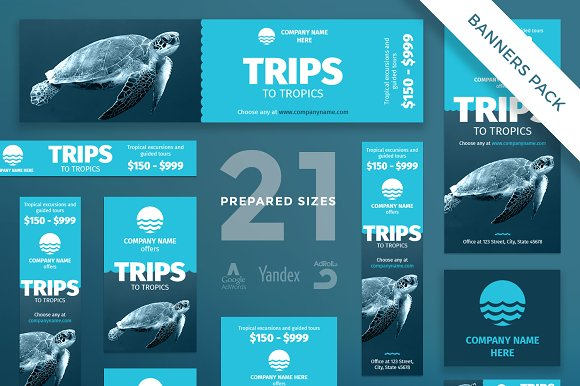 Banners Pack | Travel