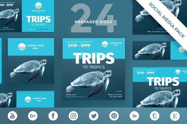 Social Media Pack | Travel