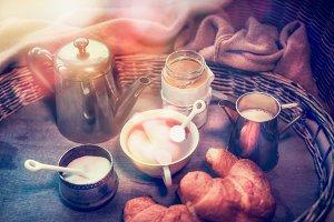 Cozy weekend breakfast