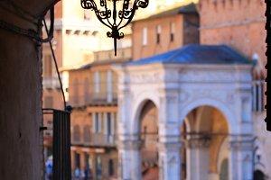 Street Lantern in Siena, Italy