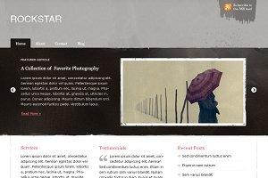 Grunge Rockstar Portfolio Blog - PSD